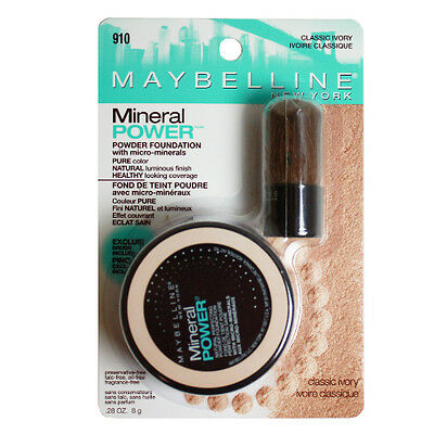 3 x Maybelline Mineral Powder 910 Classic Ivory FREE POSTAGE!!
