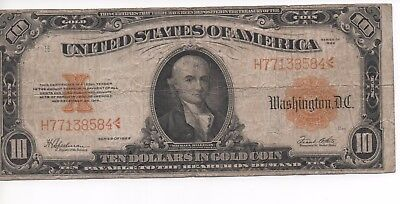 "Very Nice LARGE 1922 ""GOLD"" CERTIFICATE FR#1173*"