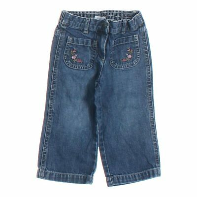 Janie and Jack Baby Girls Jeans, size 12 mo,  blue/navy,  cotton