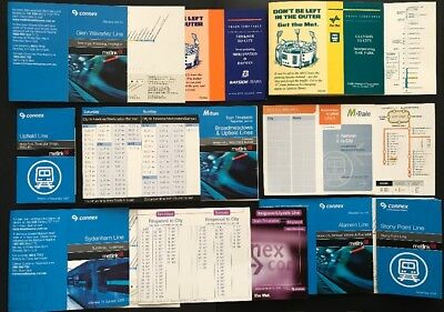 Victorian Railways - Melbourne Station Mini Timetables - Various Styles