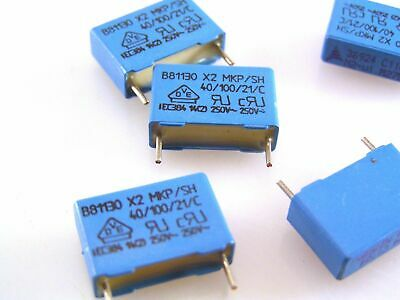 25pack .0047uf 4n7k 100v 10/% Epcos Poly Box Capacitors NEW