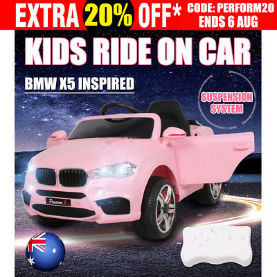Electric Kids Ride On Car BMW Inspired Children Songs Toys Battery Remote Pink