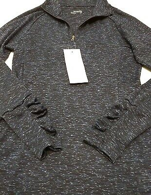 Columbia womens OuterSpaced half zip  long sleeve shirt navy - size M