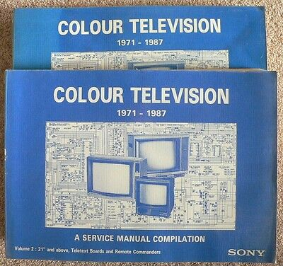 Sony Television Service Manual Collection 1971 to 1987 – Two Volumes