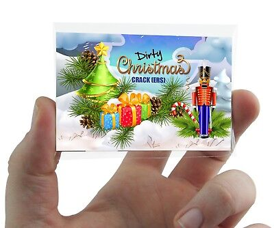 DIRTY CHRISTMAS CRACKERS JOKES CARD GAME Cracker making, adult rude work party
