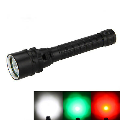 Diving 9000LM 3x RED GREEN XPE T6 LED Scuba Hunting Light Flashlight Torch Lamp