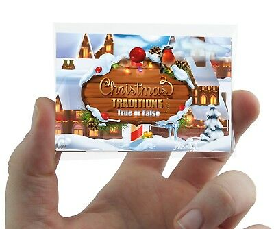 CHRISTMAS TRADITIONS QUIZ CARD GAME  Xmas Party Family Work Fun Secret Santa