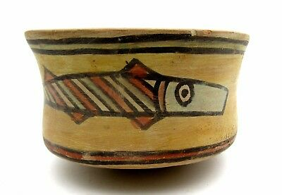 Indus Valley Terracotta Bowl W/ Fish Motif - Very Rare Artifact Lovely - L255