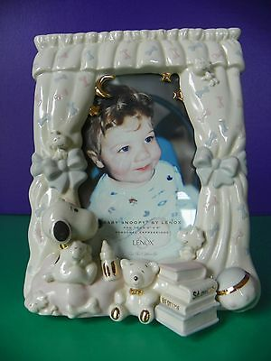 """Lenox Picture Frame 3 Dimensional """"Baby Snoopy"""" 4x6"""