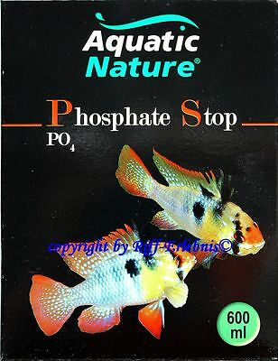AQUATIC NATURE Phosphate Stop 600ml pour eau douce aquariums 24,15€/ L