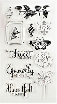 Clear cling stamp for Card making & stamping Unbranded HEARTFELT THANKS FOR YOU
