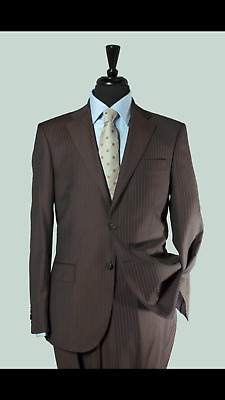 6 Piece Gangster Suit 1920's Brown PinStriped Package