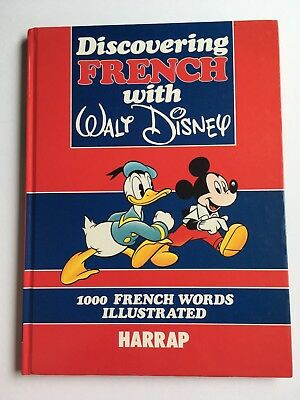 Walt Disney Discovering French Hardback Lovely book Good Condition 1991