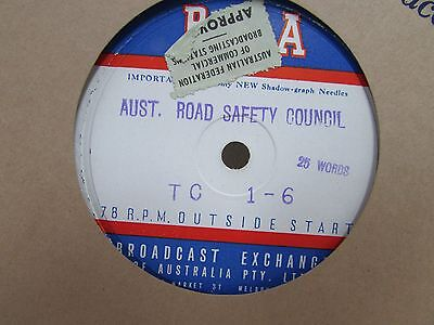 W&g Record Radio Advertisment Australian Road Safety Council Abeckett St #3