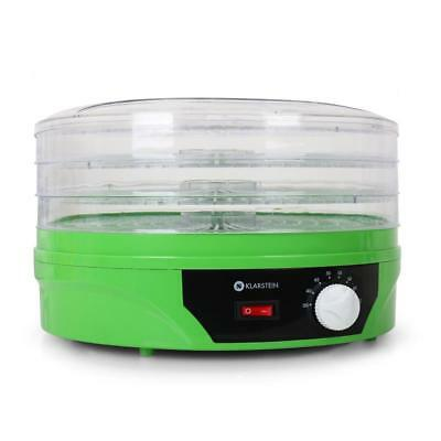3 Tier Food Dehydrator Machine Thermostat Green Meat Jerky Fruit Dryer 260 W