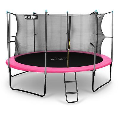 PINK 12ft TRAMPOLINE 366cm RAIN COVER SAFETY NET 150kg CHILDREN KIDS GIFT IDEA