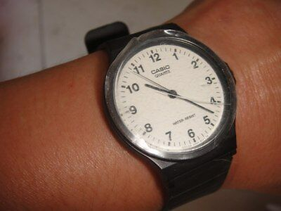 Casio Classic Unisex Mq 24 White Face Easy To See Watch With Black Strap