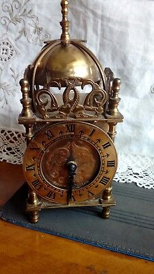 1920s Smiths Clocks & Watches Ltd Brass Domed Carriage / Mantel Clock & Key