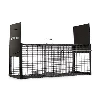 ONECONCEPT CATCH & CARRY ANIMAL PEST CAGE 31x31x78cm LIVE TRAP 2mm STEEL