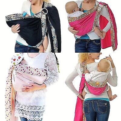 Baby Ring Sling Carrier Infant Toddler Newborn Adjustable Nursing Pouch Wrap