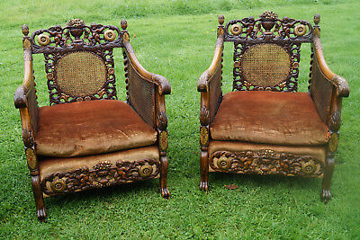gilt bergere matching set of 2 gold chairs french antique