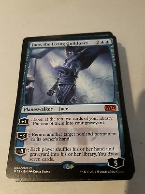 Jace, the Living Guildpact MTG M15 Mythic Rare Planeswalker