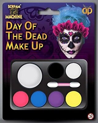 Halloween Make Up Day Of The Dead Sugar Skulls Face Paint Fancy Dress Party