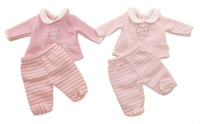 Prem Premature Reborn Doll Baby Girl Winter Bunny 2 pc Set Outfit Pink 3/5/8 lbs