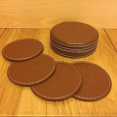 Authentic Original Disney Theme Parks Mickey Mouse Leather Look Coaster Set