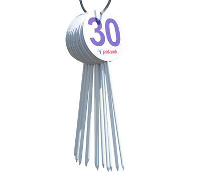 POLANIK Field Marker Set - for Throwing Ball and Other Competition - Number