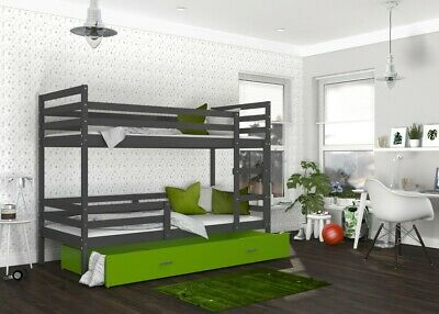 hochbett domi etagenbett kinderbett bett mit matratze. Black Bedroom Furniture Sets. Home Design Ideas