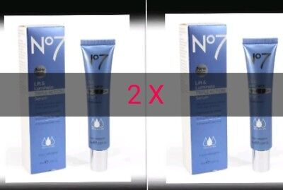 No.7 Lift And Luminate Triple Action Serum 30Ml X 2 = 60Ml Free Delivery To Uk