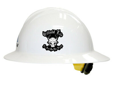 OILFIELD LIFE NO REST FOR THE WICKED Hard Hat Decal / Helmet Sticker Label