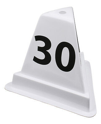 Lane & Distance Marker - 30 cm and 40 cm height - with Number and Labelling