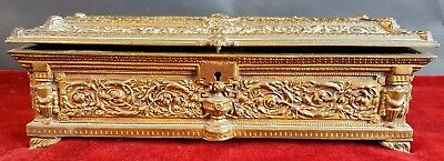 Bronze Chest. Golden To Hormolú. Napoleon Iii Style. Xix Century.