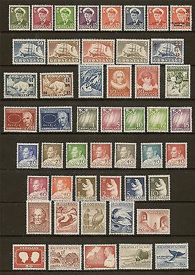 Greenland 1950-89 Complete Never Hinged Mint For 40 Years  In Succession
