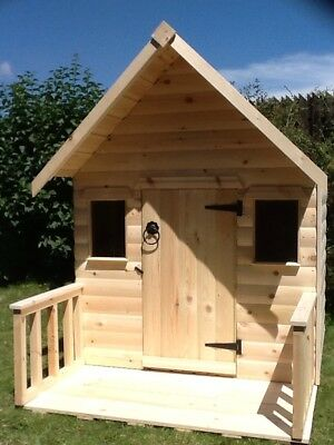 Childrens Wooden Play House Wendy House With Veranda TOP QUALITY Can Deliver