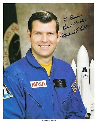 Autograph, Hand Signed, Astronaut  MIKE COATS   OFFICIAL NASA PHOTO
