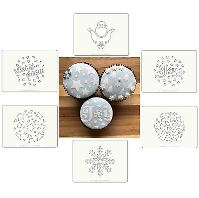 Christmas Cake Stencils - Chose Your Design - Cupcake/Cookie - Artistic Flair