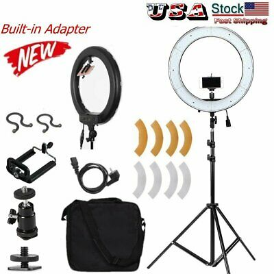"19"" ES240 5500K Dimmable Diva LED Ring Light with Diffuser Stand Make Up Studio"