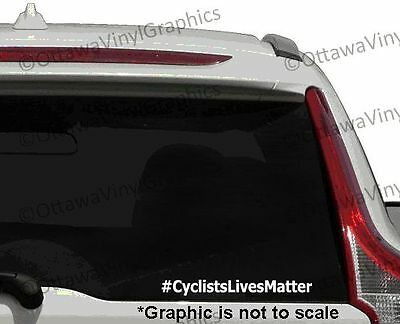 CyclistsLivesMatter Window decal bumper sticker
