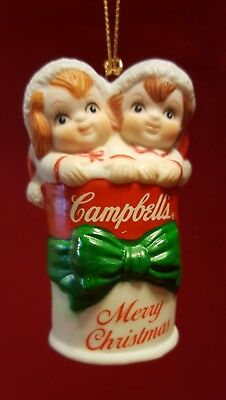 2 Campbell's Soup  Kids in a Soup Can 1992, ornament