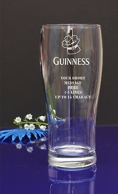 Personalised Guiness engraved pint/tulip glass.Birthday,Christmas gift 50