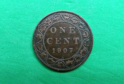 1907-H Old Canada Large Cent Coin !!