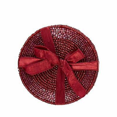 Home Collection Pack Of 4 Dark Red Beaded Coasters From Debenhams