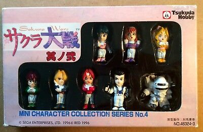 SAKURA WARS (Sakura Taisen) MINI CHARACTER COLLECTION (1996) Tsukuda Hobby