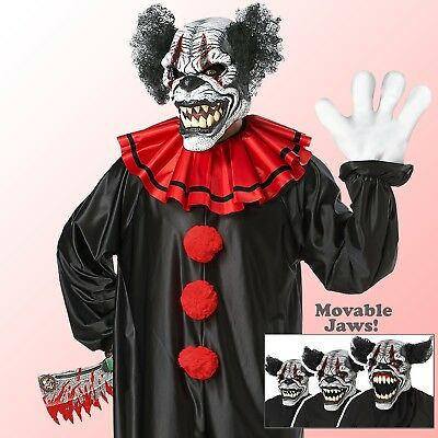 Adult Scary Clown Motion Mask Horror Halloween Party Outfit Costume Accessory