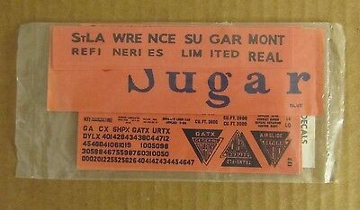 NOS Walthers O Scale Decals GACX Diamond Sugar Hopper Black Lettering #1420