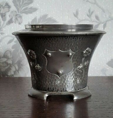 An Art Nouveau Silver Plated Plant Pot by Fenton Brothers