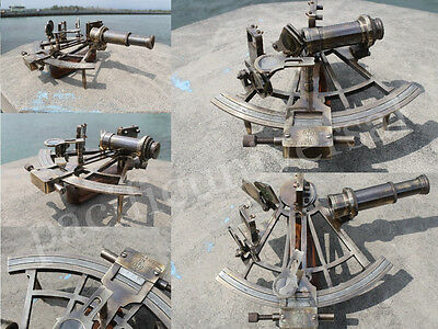 Vintage Working Heavy Brass Sextant Nautical Beautiful Marine Sextant Xmas Gift
